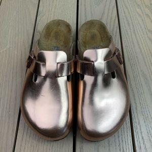 Birkenstock Boston metallic copper clog Sandals